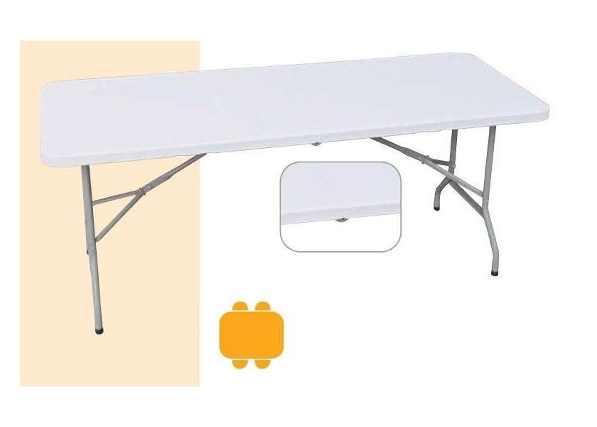 Table valise rectangulaire 1220 mm
